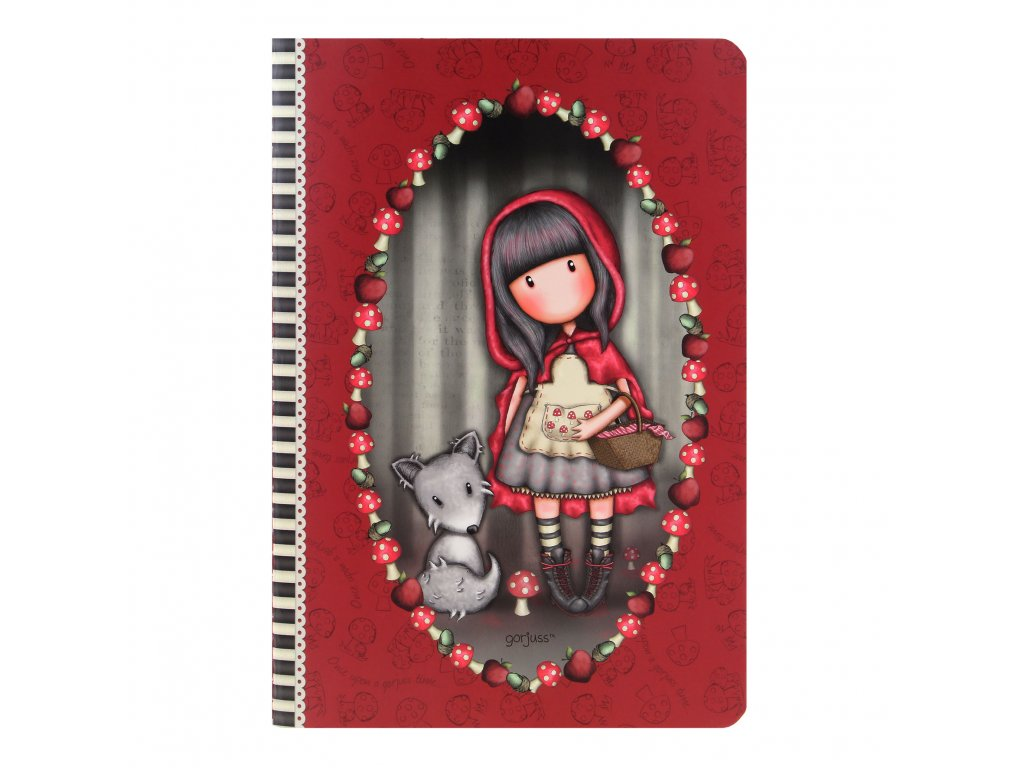 Santoro Gorjuss - Little Red Riding Hood - Zošit A5 s obalom 314GJ31